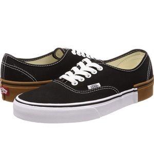 Vans Authentic gum block black canvas sneaker shoe